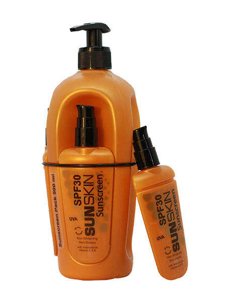 SUNSKIN SUNSCREEN SPF 30 500ml Pack