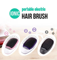 Portable Electric Ionic Hairbrush - GiftedLoving