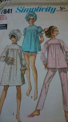 Vintage Pyjama and nightgown pattern