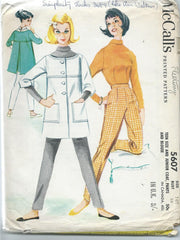 McCall's 5607-  Teen size and Junior Coat, Pants and blouse - Size 16T