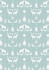 Arctic Animals on icy blue part of Northern Lights fabric by Lewis & Irene