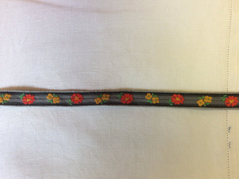 Vintage flowered ribbon