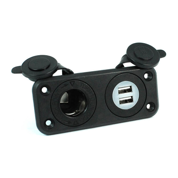 12 Volt Power Outlet and 2 USB Ports