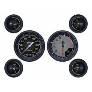 Auto Cross Gray Six Gauge Set