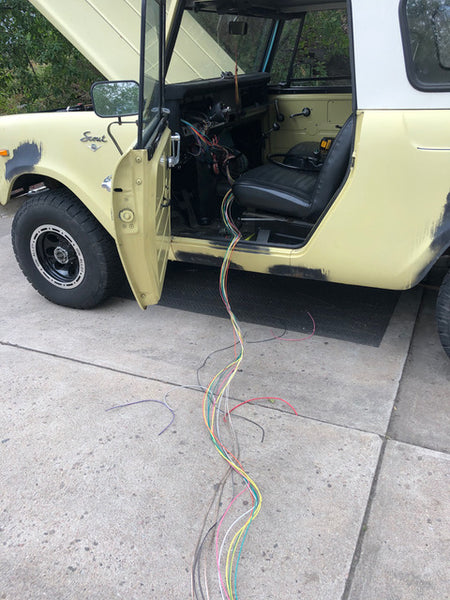 1969 International Scout 800A Restoration Wiring