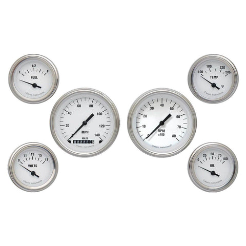 White Hot Series Six Gauge Set