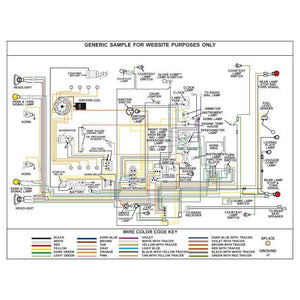 Dodge Truck B, D, And W Series Wiring Diagram, Fully Laminated Poster