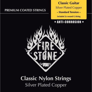 Fire & Stone Silver Plated Copper wound G-string