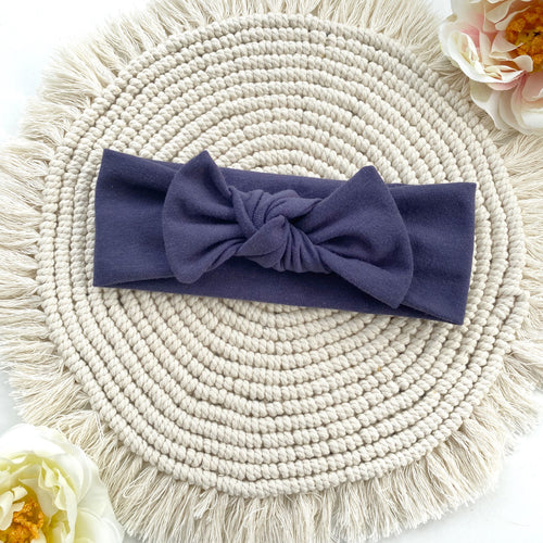 Navy Headband - BeauxBowsCo