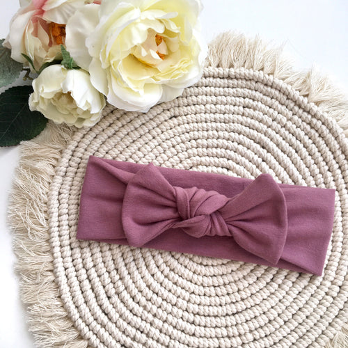 Mauve Headband - BeauxBowsCo