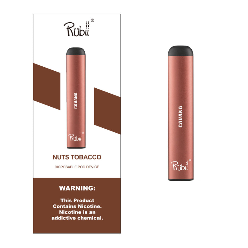 RUBII - Nuts Tobacco - (2PACK) Disposable Vape & Pod | 400 Puffs
