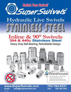 SuperSwivels STAINLESS STEEL Hydraulic Live Swivel Joints Catalog