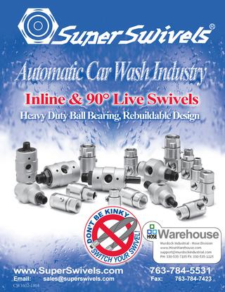 SuperSwivels Automatic Car Wash Industry Swivel Joint Catalog