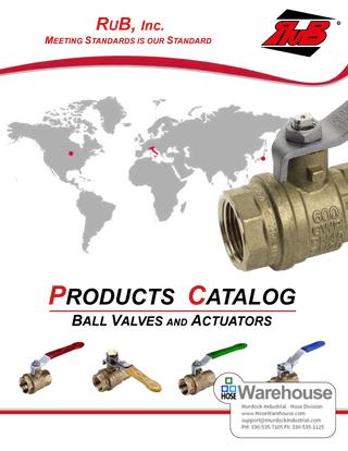 Rub Ball Valves Catalog