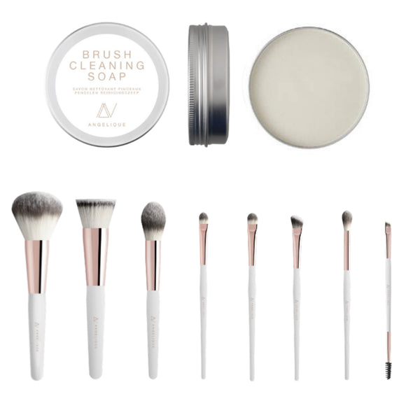 Brushes by Angelique hele set + gratis Cleansing Soap