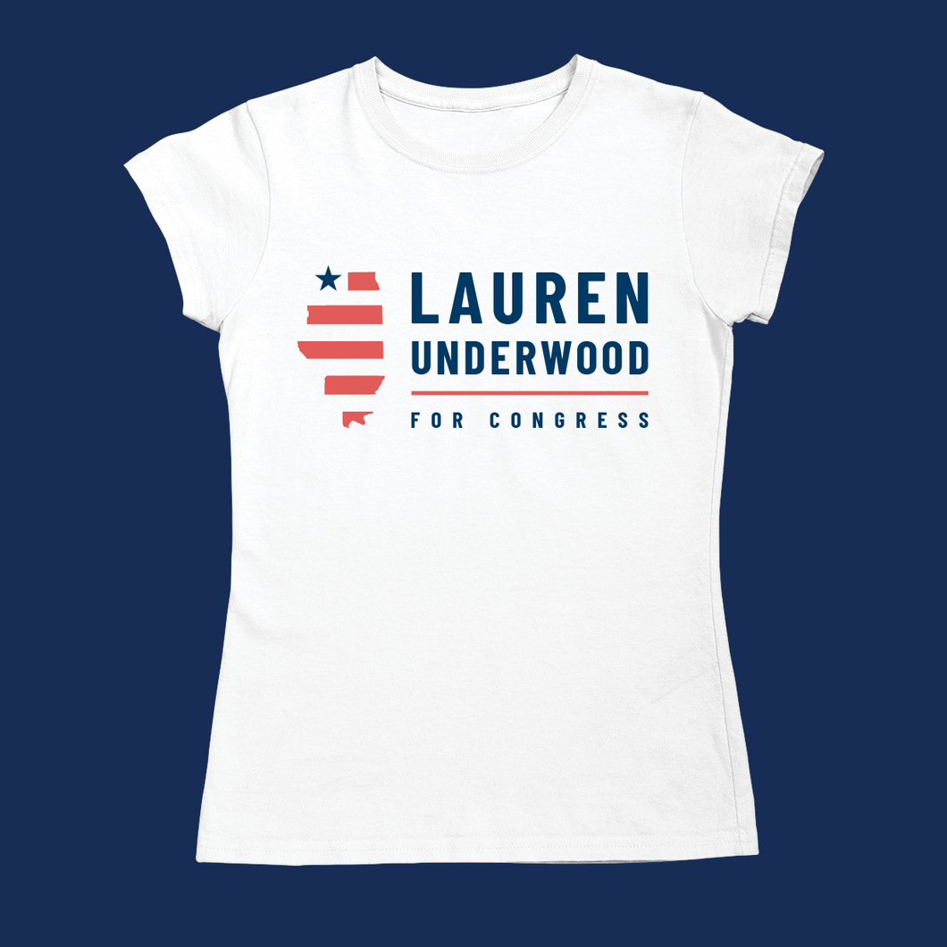Lauren Underwood Fitted Logo Tee