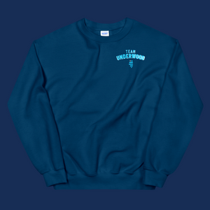 Lauren Underwood Team Underwood Navy Crewneck Sweatshirt