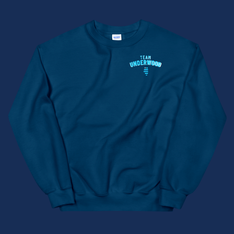 Team Underwood Navy Crewneck Sweatshirt