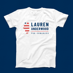 Lauren Underwood Logo Tee