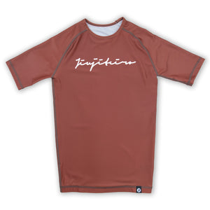 CORE 19 BROWN RASHGUARD
