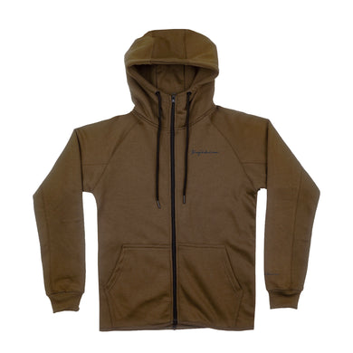 TECH FLEECE ZIP HOODIE OLIVE