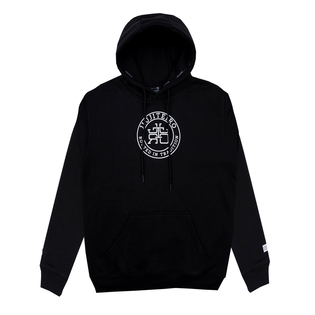 ROOTED ATHLETIC HOODIE BLACK