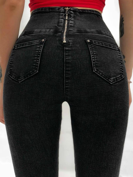 Women Gothic Sexy Hight Waist Jeans Pants
