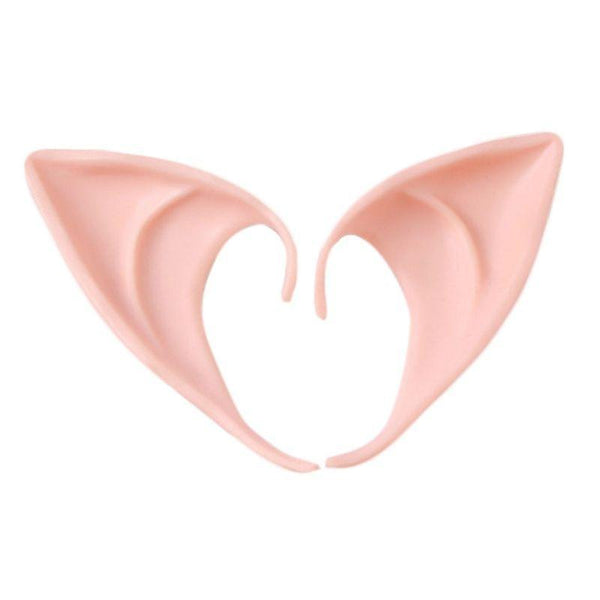 1 Pair Latex Elf Ear Cosplay Mask Halloween Masquerade Costume Accessories