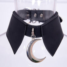 Load image into Gallery viewer, Crescent Punk Decoration PU Leather Collar