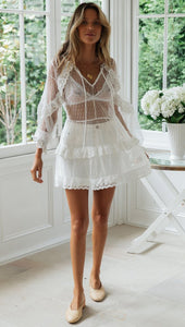 Sexy Beach See-through Layered Dress Cover-ups