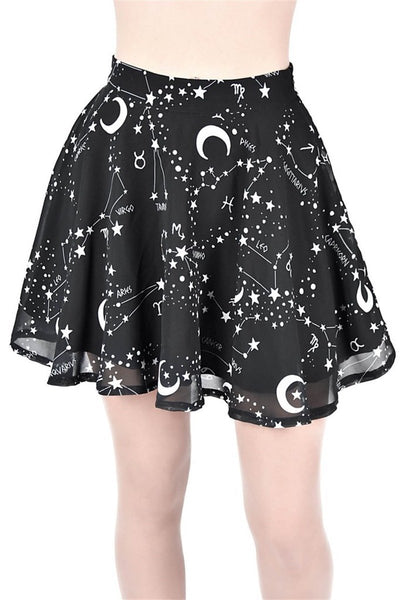 Stylish Printed Edabe Sleek Wavy Skirt