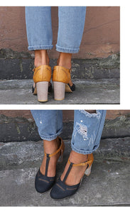 Large Size Thick and Suede Wild High Heel Sandals Women