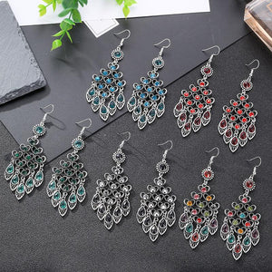 Retro Chinese Style Multi-layer  with High-grade Earrings and National Peach Ornaments Earrings