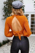 Load image into Gallery viewer, Solid Color Long Sleeve Backless Sweater