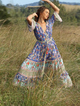Load image into Gallery viewer, Bohemian Beach Holiday Wind Print Maxi Dress