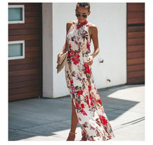 Load image into Gallery viewer, Bohemian Hanging Neck Round Neck Large Swing Long Dress