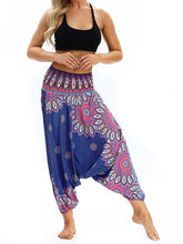 Load image into Gallery viewer, Printed Loose Wide Leg Casual Beamed Bloomers Pants