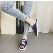 Load image into Gallery viewer, Half Slipper Fashion Wears Wild Casual Canvas Sandals