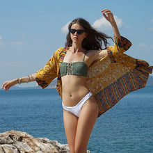 Load image into Gallery viewer, Ethnic Style Printed Beach Bikini Sunscreen Cardigan Cover-up