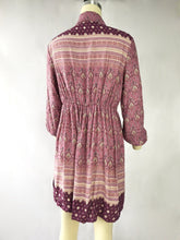 Load image into Gallery viewer, Boho Lapel Waist and Long Sleeve Printed Dress