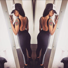 Load image into Gallery viewer, Backless Two Tone Gym Jumpsuit