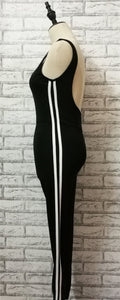 Backless Two Tone Gym Jumpsuit
