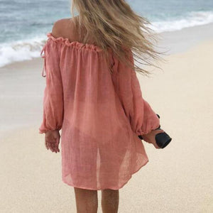 Holiday Style Beach Skirt Sunscreen Blouse Top