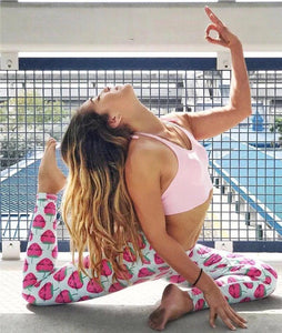 Strawberry Pattern Fresh Yoga Leggings