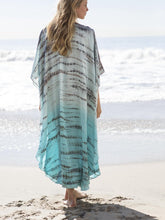 Load image into Gallery viewer, Beach Robes Seaside Vacation Blouse Cover Up Maxi Dress