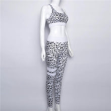 Load image into Gallery viewer, Leopard Print Gym Bra And Leggings Suits