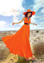 Load image into Gallery viewer, Bohemian Solid Color Chiffon Huge Hem Maxi Long Dress