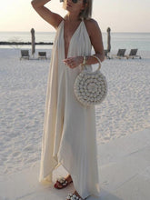 Load image into Gallery viewer, Strap Solid Color Beach Long Dress