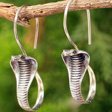 Load image into Gallery viewer, Vintage Thai Silver Creative Cobra Earrings