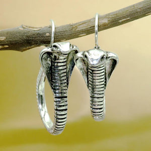 Vintage Thai Silver Creative Cobra Earrings